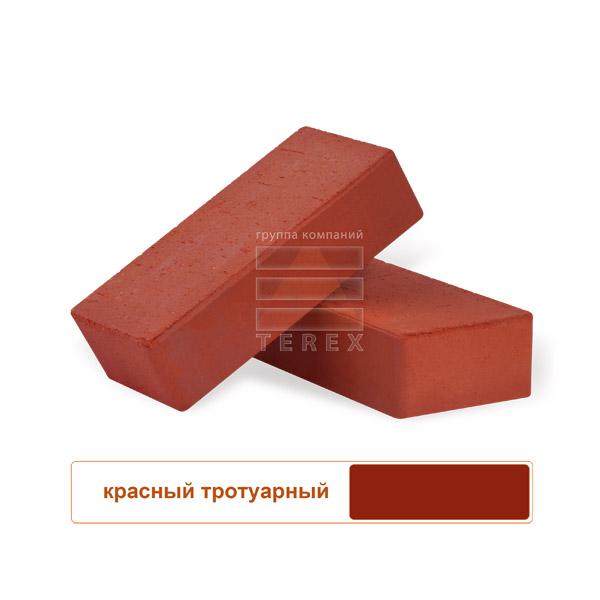 Клинкерная брусчатка с фаской TEREX красная
