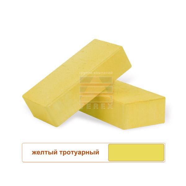 Клинкерная брусчатка TEREX с фаской желтая