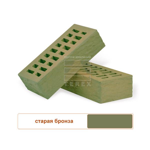 Клинкерный облицовочный кирпич TEREX Старая бронза рустированный