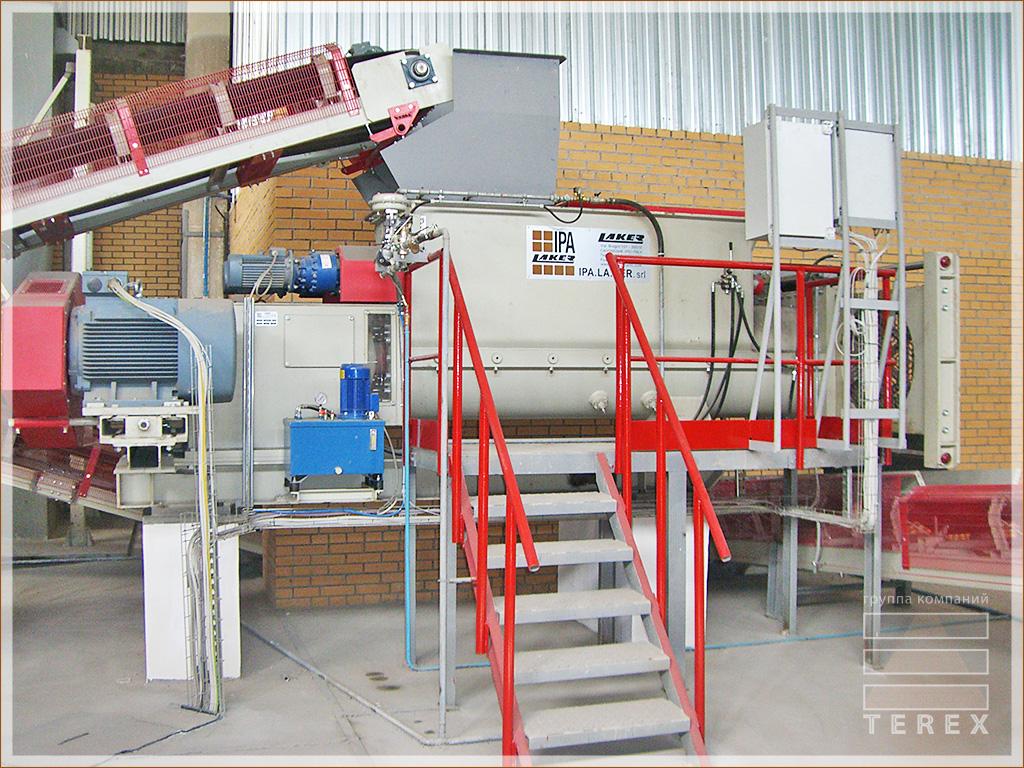 Оборудование на заводе по производству кирпича Терекс